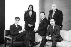 Photography inspiration: Group Portraiture - Corporate Headshot - black & white + high contrast - indoor photography