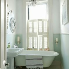 Mint and white paint