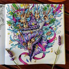 WEBSTA @ issa_bella03 - Imagimorphia #imagimorphia #kerbyrosanes #fabercastell #coloringforadults #animorphia #sztukakolorowania #colorindolivrostop #color #relax #arttherapy #creativelycoloring #coloring_secrets