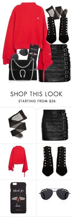 """Untitled #4776"" by amm-xo ❤ liked on Polyvore featuring Gucci, Vetements, Balenciaga and Givenchy"
