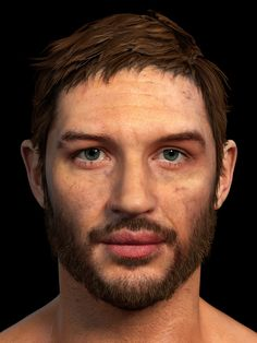 ArtStation - Game res Tom Hardy bust done for Fallout New Vegas mod, Hossein Diba