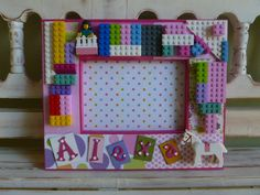 Lego Girls Frame Room Gift Picture Personalized por DippityDaisy, $45.00