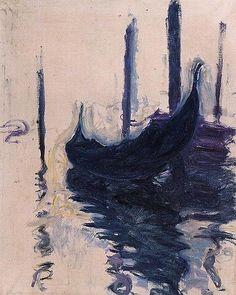 """Gondola in Venice"" by Claude Monet"