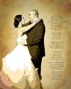 Song Lyric Wedding Vows Custom Canvas Wall Art by Studiojones1, $139.00