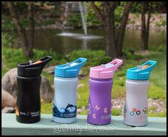 Kids Frost Triple Insulated TriMax Flip Top Water Bottle ~ Eco Vessel Stainless Steel Water Bottles