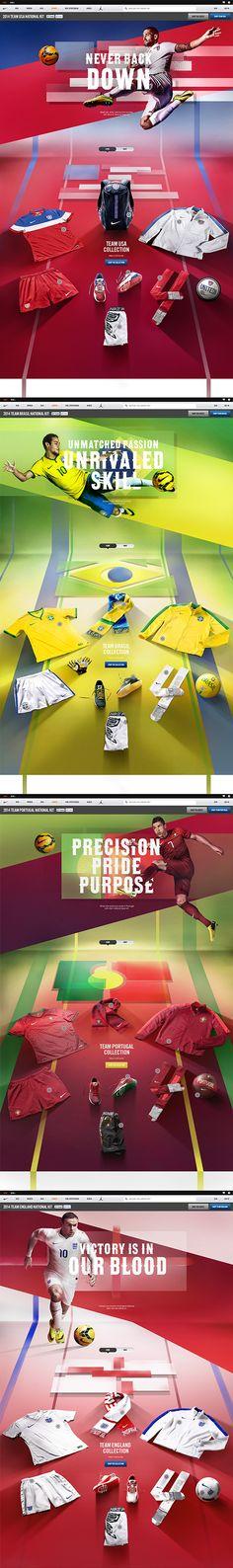 Nike National Team Kits 2014 on Web Design Served