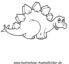 ausmalbild dinosaurier und steinzeit: kostenlose malvorlage: springender dinosaurier kostenlos