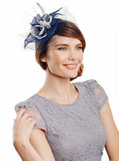 Blue/Cream Ombre Rose Mini Disc Fascinator - fascinators & hats - occasionwear - Women- BHS