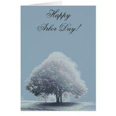 A Tree in Fog Arbor Day Card