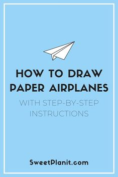 How to draw paper airplanes: Easy doodles for your bullet journal or planner with step-by-step instructions and videos. Bullet Journal Contents, Bullet Journal Hacks, Bullet Journal Layout, Journal Topics, Journal Pages, Paper Airplane Steps, Airplane Doodle, Doodle For Beginners, Fly Paper