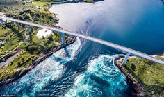 Saltstraumen in northern Norway is home to the biggest whirlpools in the world