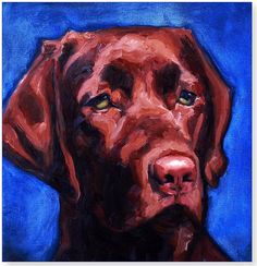 Brown dog - immortalized as an oil painting
