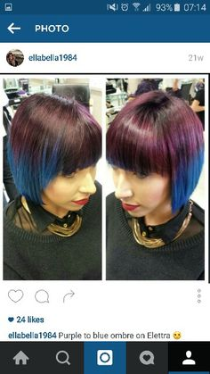 Purple to Blue ombre