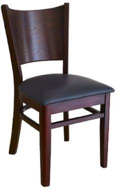 Beechwood Curved Plain Back Chair