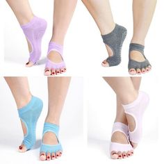 Half Toe Ankle Grip Yoga Dance Pilates Socks