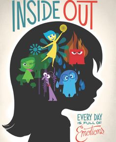 Inside Out Poster - Disney Pixar Disney Pixar, Walt Disney, Disney E Dreamworks, Disney Love, Disney Magic, Disney Art, Disney 2015, Punk Disney, Disney Villains