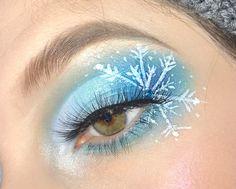 Face Paint Makeup, Eye Makeup Art, Fairy Makeup, Eyeshadow Makeup, Eyeliner, Snow Makeup, Winter Makeup, Christmas Makeup Look, Holiday Makeup