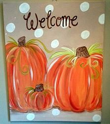 1000 Ideas About Pumpkin Canvas Painting On Pinterest
