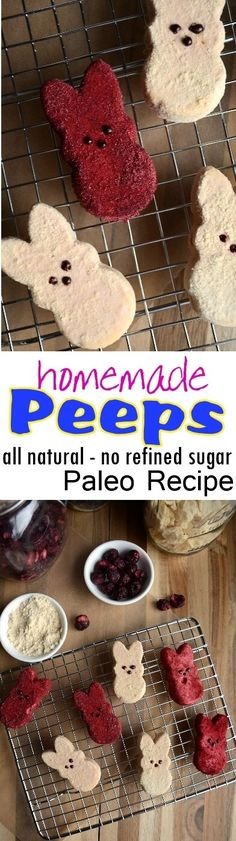 Homemade Marshmallow Peeps - Paleo - No Refined Sugar - All Natural - Easter Candy Recipe