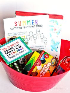 Summer Craft Bucket For Kids And Printable Tag