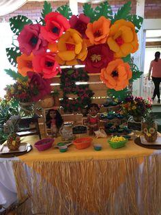 Moana Themed Party, Moana Birthday Party, Moana Party, 3rd Birthday Parties, Aloha Party, Hawaiian Luau Party, Party Themes, Party Ideas, Troll Party
