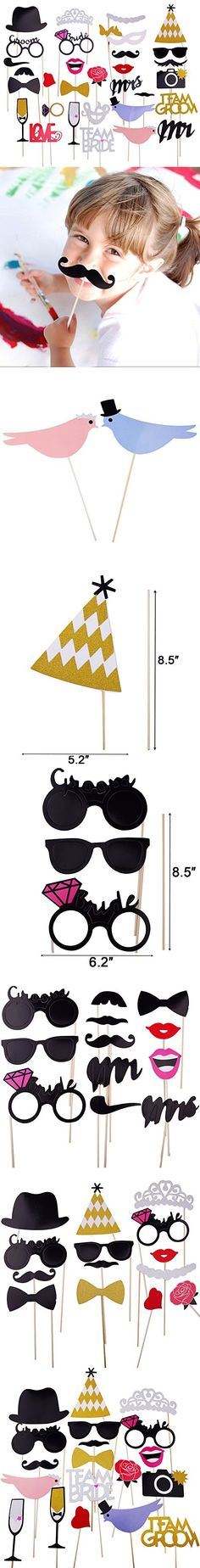 Wedding Decoration Props Photo Booth for Birthday Anniversary Party Photobooth Shower Kiss Mouths 31pcs