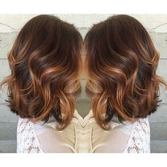 Balayaged rose gold highlights By Butterfly