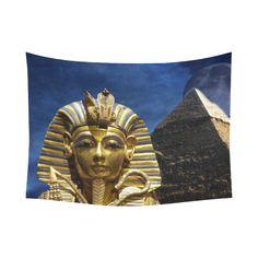 "King Tut Pyramid Cotton Linen Tapestry 60""x 80"". FREE Shipping. FREE Returns. #tapestries #kingtut"