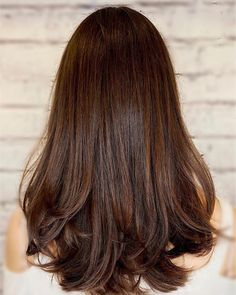 Espresso Base with Hazel Ribbons - 60 Chocolate Brown Hair Color Ideas for Brunettes - The Trending Hairstyle Rich Brown Hair, Brown Ombre Hair, Brown Hair With Highlights, Brown Hair Colors, Global Hair Color, Mocha Hair, Chocolate Brown Hair Color, Brunette Hair, Hair Beauty