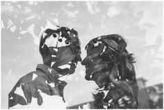 Black and White Double Exposure Couple Portraits in Downtown Suffolk Virginia | Virginia Photographers | Rowlands Photography