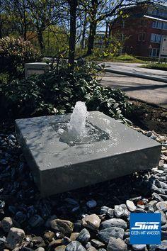 Aluminum-Gartenbrunnen Alumento 100 - All About Water Fountain Design, Patio Fountain, Modern Fountain, Garden Fountains, Modern Water Feature, Backyard Water Feature, Garden Deco, Gnome Garden, Outdoor Porch Lights