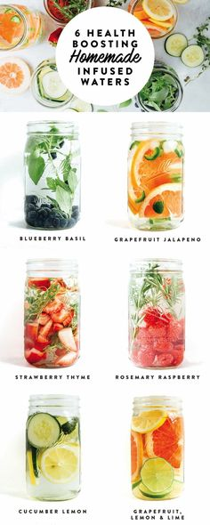 24 clean detox water recipes to boost your metabolism weight loss fat burning cleanses energy flat tummy and skin Infused Water Recipes, Fruit Infused Water, Infused Waters, Fruit Water Recipes, Water Infusion Recipes, Water Detox Recipes, Flavored Waters, Smoothie Detox, Smoothie Recipes