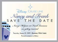 Wedding Save The Date Magnet Card Destination Disney Cruise -  Deposit