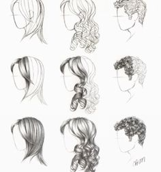 More hair drawings:)