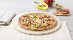 Pizza «Diavola» – Tomato sauce, Mozzarella, Pepperoni (salami), Jalapeno Peppers, Peppers  Onions – Sizes: S - 25cm, M - 30cm, L - 35cm Mozzarella, Vegetable Pizza, Menu, Vegetables, Food, Pizza, Food Food, Menu Board Design, Meal