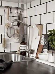 inspiracje w moim mieszkaniu: Skandynawska biało-czarna kuchnia /Scandinavian black and white kitchen