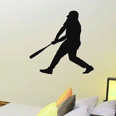 WALL DECAL VINYL STICKER GYM SPORT BASEBALL PLAYER SB207