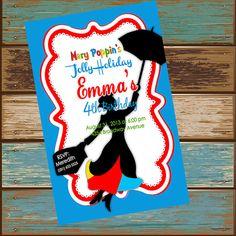 Mary Poppins Birthday Digital Invite by DashingDigitalDesign, $12.99