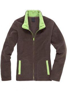 Brown Collision Color Slim Collar Cardigan Sweatshirt$43.00