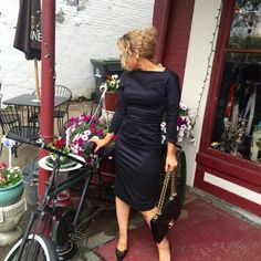 Rene lezard Renelezard beautiful slate grey  dress Rene lezard Dresses Midi