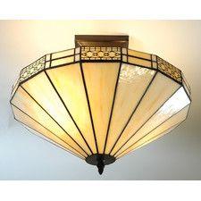 Tiffany Semi Flush Ceiling Light