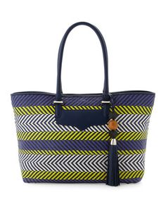 Perfection Tribal Woven Tote by Rebecca Minkoff at Last Call by Neiman Marcus.