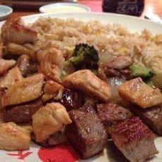 Benihana Hibachi Chicken and Hibachi Steak: Mushrooms, Sesame Oil, Butter, and Soy Sauce.