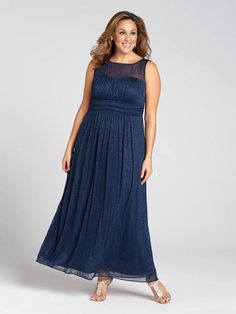 Laura Plus: for women size 14 . You may think its the glittery detailing, but in the right dress, you're destined to sparkle. It boasts a flattering fit and an illusion top to show a peek of skin, This lovely look is perfect for your upcomi...5030103-8527