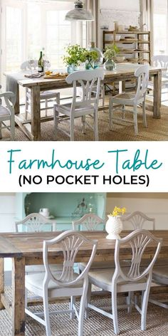 Do you want a farmhouse table, but don't want to spend thousands of dollars? Have you thought about building your own? Thousands of people have with minimal tools and woodworking experience using these very plans! #anawhite #anawhiteplans #diy #diyfurniture #diytable #farmhouse #homedecor Diy Furniture Building, Diy Furniture Easy, Diy Furniture Projects, Diy Wood Projects, Outdoor Furniture Sets, Build A Farmhouse Table, Modern Farmhouse Decor, Farmhouse Style, Decorating Your Home