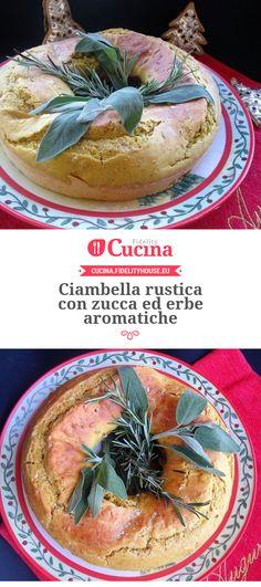 Ciambella rustica con zucca ed erbe aromatiche della nostra utente Sabrina. Unisciti alla nostra Community ed invia le tue ricette!