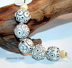 Lampwork Art Jewelry by Jeanniesbeads 2936 Dots Design, My Design, Beads Pictures, Strand Bracelet, Lampwork Beads, Unique Art, Jewelry Art, Glass Beads, Lampworking