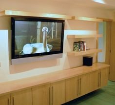 floating built in wall units