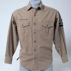 Ralph Lauren Polo Jeans Co. Military Long Sleeve Button Front Shirt Mens  Small  RalphLauren 949869a15aaf