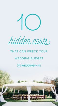 10 Hidden Costs That Can Wreck Your Wedding Budget -  Establishing a realistic budget for the big day (and sticking to it!) is one of the most challenging parts of wedding planning. Check out the hidden costs you should be aware of when preparing the budget on @weddingwire! { Michelle Flores Photography}